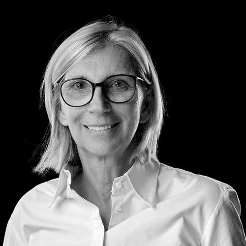 Portrait noir et blanc de Chantal PILLET, avocate au barreau de Grenoble